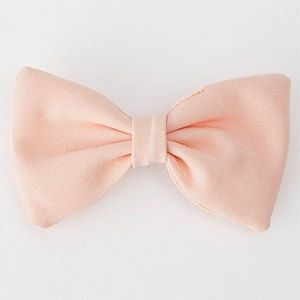 American Apparel Pink Bow Hair Barrette